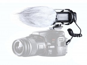 Boya BY-V02 Stereo Condensor Microphone for DSLR Cameras, Camcorder, Audio recorders_