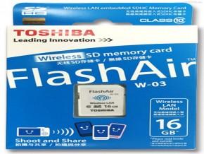 W03 TOSHIBA WIFI MEMORY 16GB CLASS 10