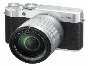 Fujifilm X-A10 Mirrorless Camera XC16-50mm F3.5-5.6 OIS II Kit - Silver