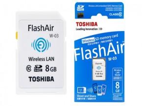 W03 TOSHIBA WIFI MEMORY 8GB CLASS 10