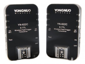 Yongnuo YN-622C-USA E-TTL 2.4-GHz Wireless Flash Trigger Transceiver Pair for Canon DSLRs