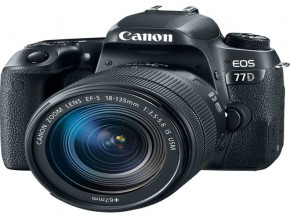 Canon EOS 77D DSLR Camera with 18-135mm USM Lens