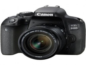 Canon EOS 800D kit EF-S 18-55mm f/4-5.6 IS STM+ bag + memory 16GB 80MB
