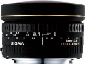 SIGMA LENS 8mm F3.5 EX DG Circular Fisheye