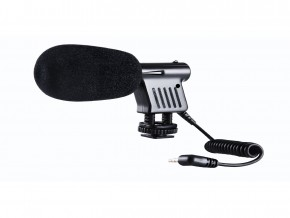 Boya By Vm01 Directional Video Condenser Microphone + Reduces Vibration Noise During Autofocus with 3.5mm Jack Plug for Canon Nikon Dslr Camera_